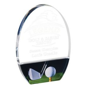 Golf Legends Club and tee Acrylic Award - 7'' h