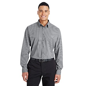 DEVON AND JONES CrownLux Performance? Men's Tonal Mini Check Shirt
