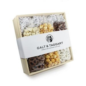 Chocolate, Pretzel, + Caramel Corn Set Large Gift Crate