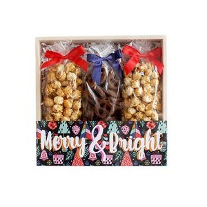 Caramel Corn + Pretzel Set Large Gift Crate