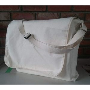 "14""x 12""x 4"" Cotton Canvas Messenger Bag"