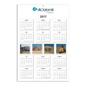 "Year-At-A-Glance Wall Calendar w/ Stock Images - 1 Side (11 1/2""x17 1/8"")"