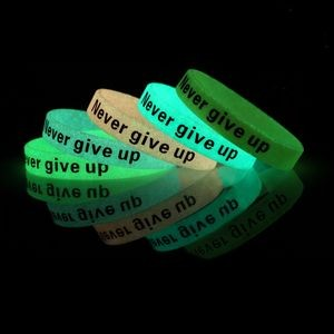 Glow In The Dark Silicone Bracelets/Wristbands