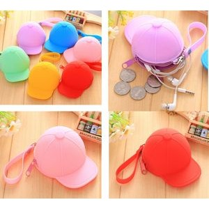 Silicone Baseball Cap Coin Purse Mini Hats Key Cas