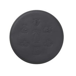 Round Top Grain Leather Mouse Pad