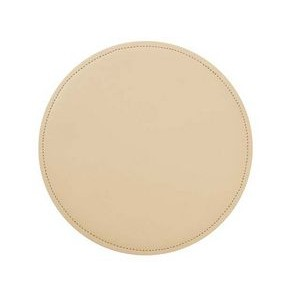 Round Bonded Leather Mouse Pads