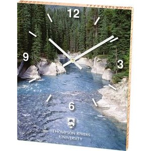"Ecoboard™ Clock (8""x10"") with Full Coverage Imprint"