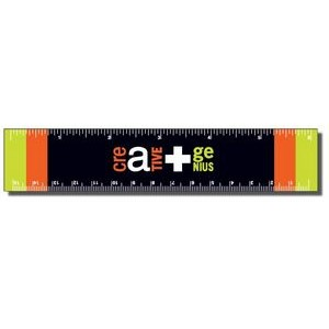 ".040 White Matte Styrene Plastic 6"" Rulers / with square corners (1.25"" x 6.25"")"