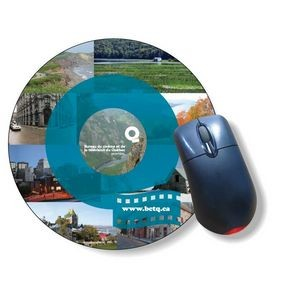 "Slimline Mousemats™ clear textured vinyl front & adhesive back / Round (7.85"" dia.)"