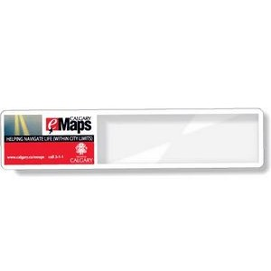 "Clear Plastic Magnifier Bookmark Ruler (1.63""x7.75""), Full Colour"