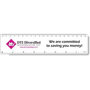 ".040 White Matte Styrene Plastic 8"" Rulers / with round corners (1.875"" x 8.25"")"