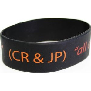 "Large Embossed Silicone Wristbands (7 3/16""x 1""/Youth 7 15/16""x1"")"