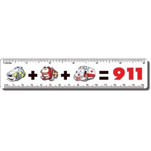 ".040 White Matte Styrene Plastic 6"" Rulers / with round corners (1.25"" x 6.25"")"
