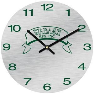 "11 1/2"" Round Aluma-Tech Wall Clock with Full Colour Imprint"