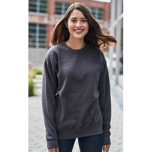 M & O® Knits Adult Unisex Crew Neck Fleece Sweater