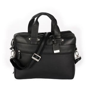 Perreira Executive Leather Double Compartment Briefcase