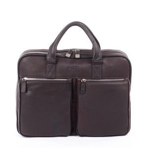 Sartoria Medium Top Grain Leather Zipper Briefcase