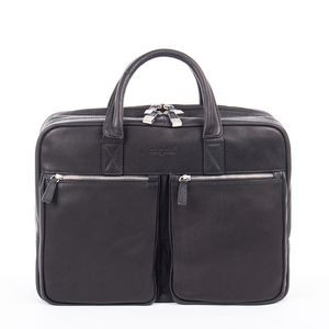 Sartoria Top Grain Leather Double Compartment Briefcase