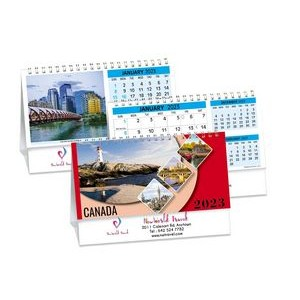 Canada's Charms Double View Desk Calendar