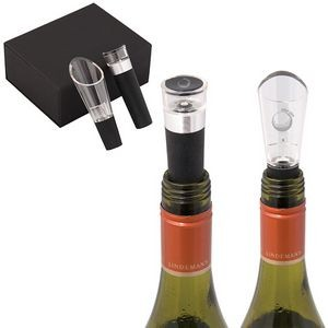 El Classico Wine Pourer And Stopper Gift Set