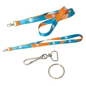 "Ez-Import™ 0.5"" W Sublimated Lanyard"