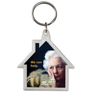 House Crystal Key Tag