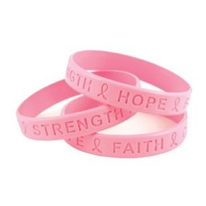 Breast Cancer Awareness Debossed SiliBand