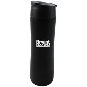 **Flip & Sip Tumbler 16oz black stainless steel mug by aladdin