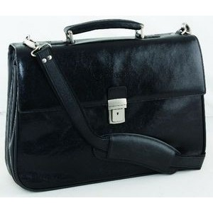 Executive Leather Briefcase black