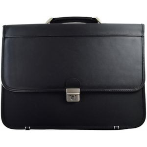 ** Formal Briefcase - Nylon and Genuine Leather