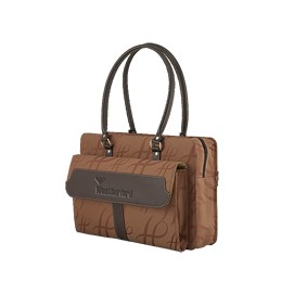 Women's Business Attache brown signature style