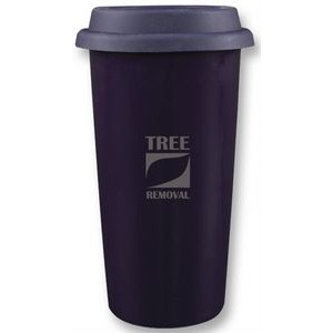 Cape Breton 12oz 2tone purple/white glossy double wall tumbler