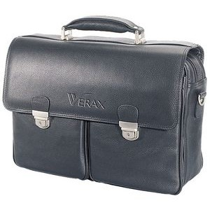Corporate Leather Briefcase black