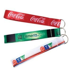 "Sublimated Wrist FOB w/Split Ring (3/4"" x 6"")"