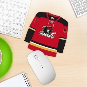 Hockey Jersey Shaped Mouse Pad