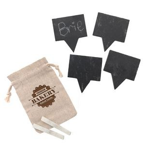 4pc Slate Cheese Marker Set