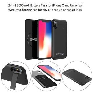 5000mAh Battery Phone Case w/Pad