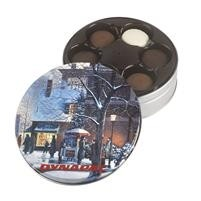 Glad Tidings Tin w/Gourmet Sandwich Cookies Selection