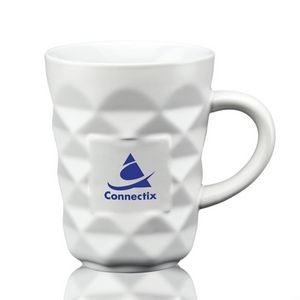 The Diamond Ceramic Mug - 12oz White