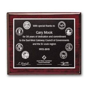 "Photocast Plaque - Rosewood 10½""x13"""