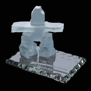 Inukshuk on Jade - Frosted 3½""