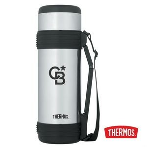Thermos® SS Beverage Bottle with Folding Handle - 34oz Stainless