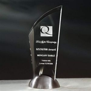 Stylus Award - Acrylic/Satin Nickel 10½""