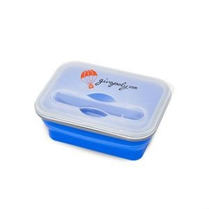 The Pleat Lunch Box - Royal Blue