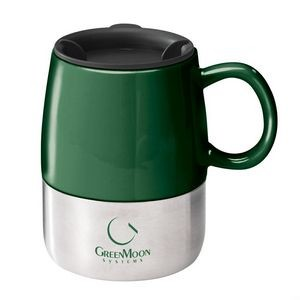 The Tasty Ceramic & S/S Mug - 14oz Hunter Green