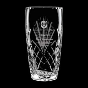 Mulholland Vase - 24% Lead Crystal 10""