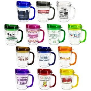 Lakeshore 12 oz Tritan Mug with Translucent Handle + Lid
