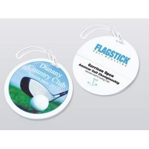 Round Golf Bag Tag (4-Color)