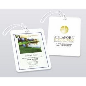 Rectangular Golf Bag Tag (Screen/Pad Print)