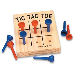 "3"" Wooden Tic-Tac-Toe Game"